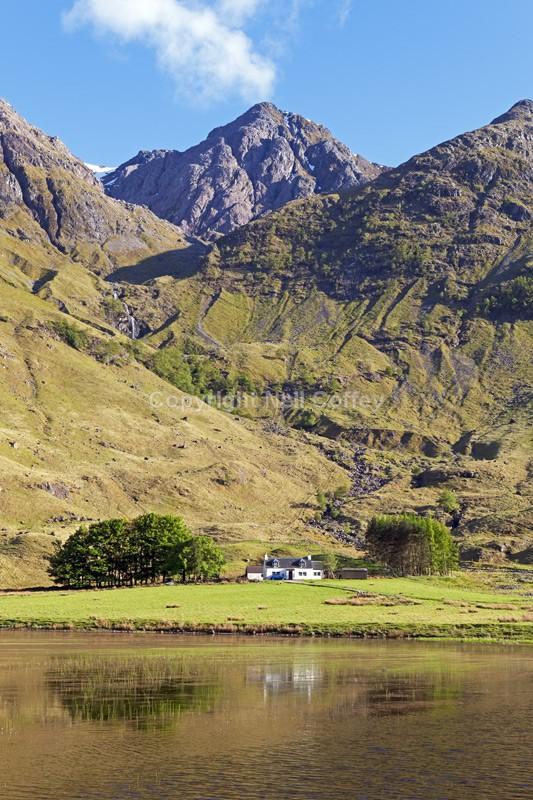 Achnambeithach Cottage, Glen Coe, Highland - Portrait format