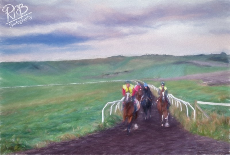 Beckhampton Gallops - Digital Paintings