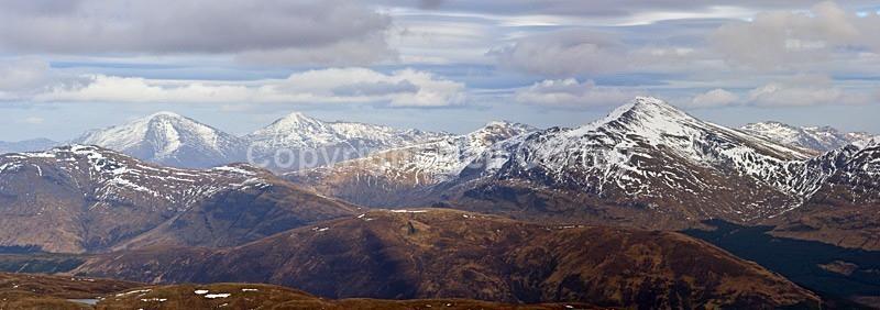 Ben More, Stob Binnean & Ben Lui, Stirlingshire - Panoramic format