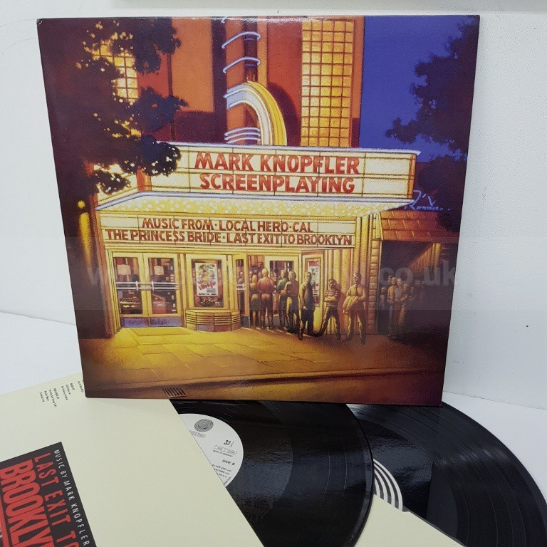 MARK KNOPFLER, screenplaying, 518327-1, 2x12 inch LP, compilation - ROCK, PSYCH, PROG, POP, SHOE GAZING, BEAT