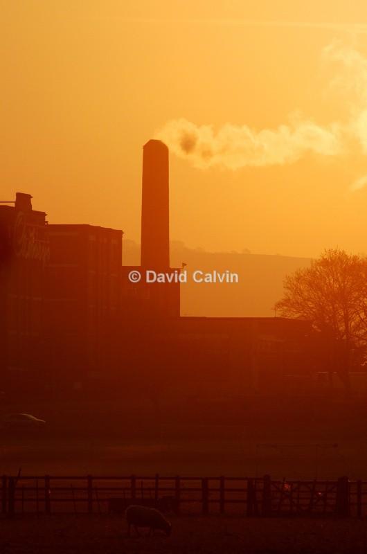 Keynsham Morning Glow - Sunset on Somerdale