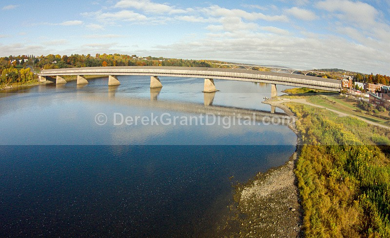 Hartland Covered Bridge Aerial View New Brunswick Canada - Covered Bridges of New Brunswick