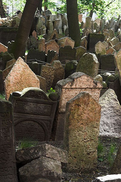 Headstones - Jewish Cemetery - Prague