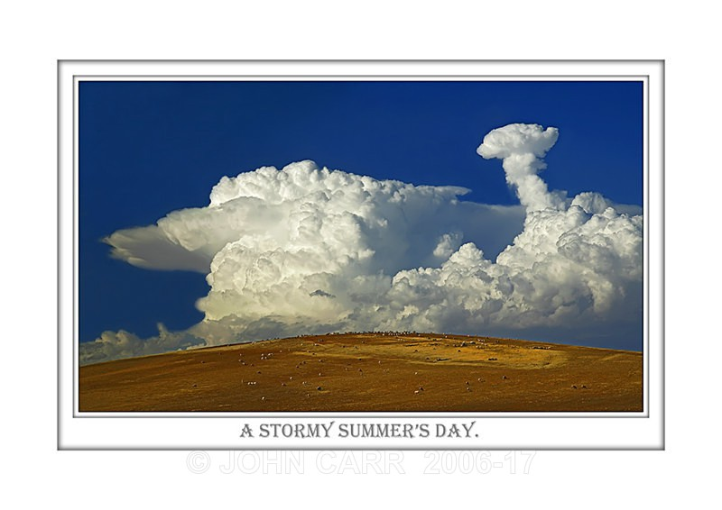 Beautiful Wall Art print  with a Border, showing Stunning Summer Cloud formations from South Australia.
