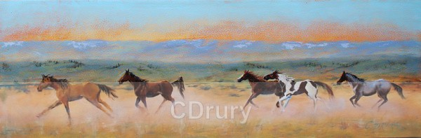 Red Desert Horses - Colorful Critters