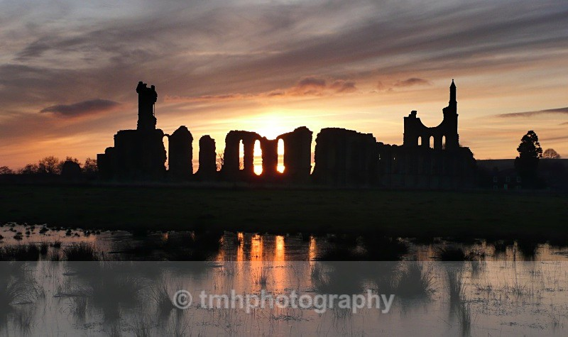 Byland Abbey at Dusk - Creative Scenery
