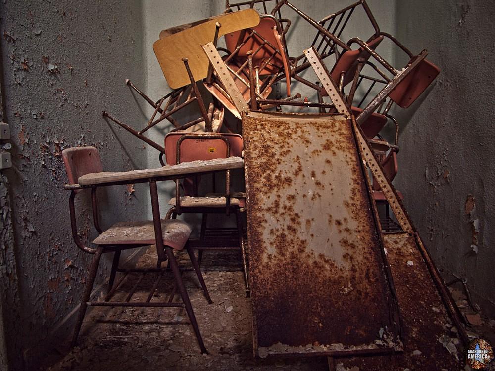 Pennhurst State School (Spring City, PA) | Cramped Desks - Pennhurst State School and Hospital