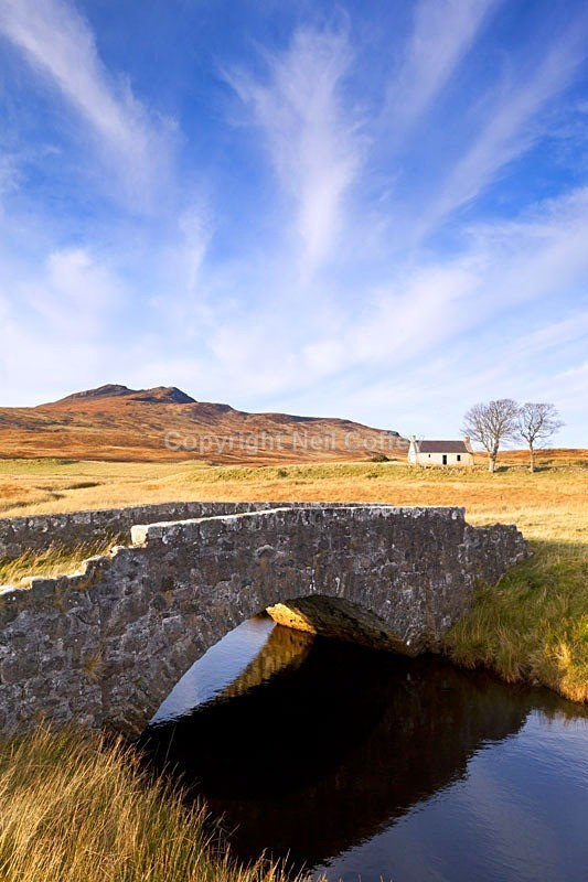 Old Cottage by Loch Loyal, Sutherland - Portrait format