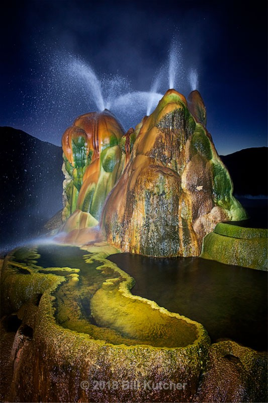 Fly Geyser at Night - Current Show