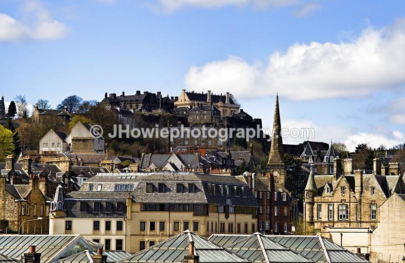 stirling rooftops sitting below stirling castle - Stirling