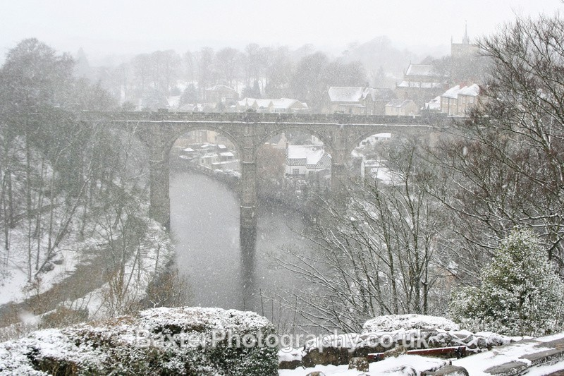 Knaresborough Bridge in A Blizzard - Views Around Harrogate: