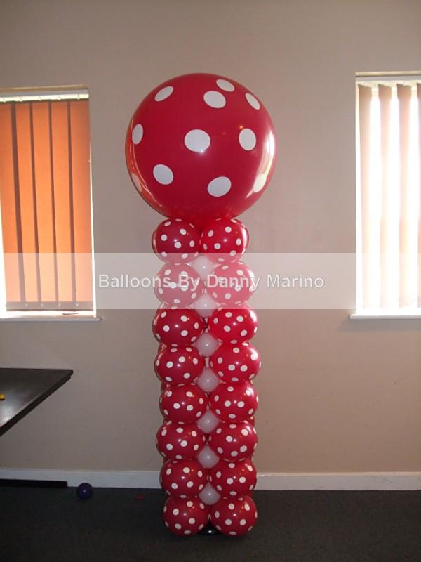 Polka dot Column - Birthday Balloons