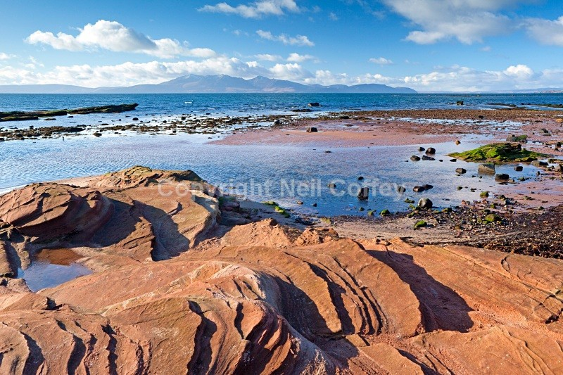 Isle of Arran from Seamill, North Ayrshire - Landscape format