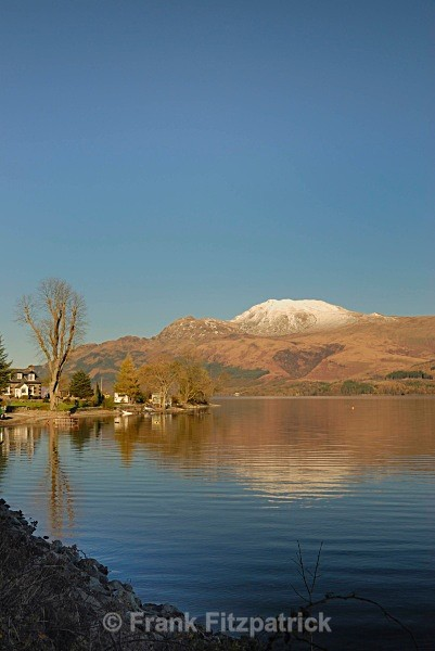 Culag, Loch Lomond with the distinctive peak of Ben More - Scottish scenics