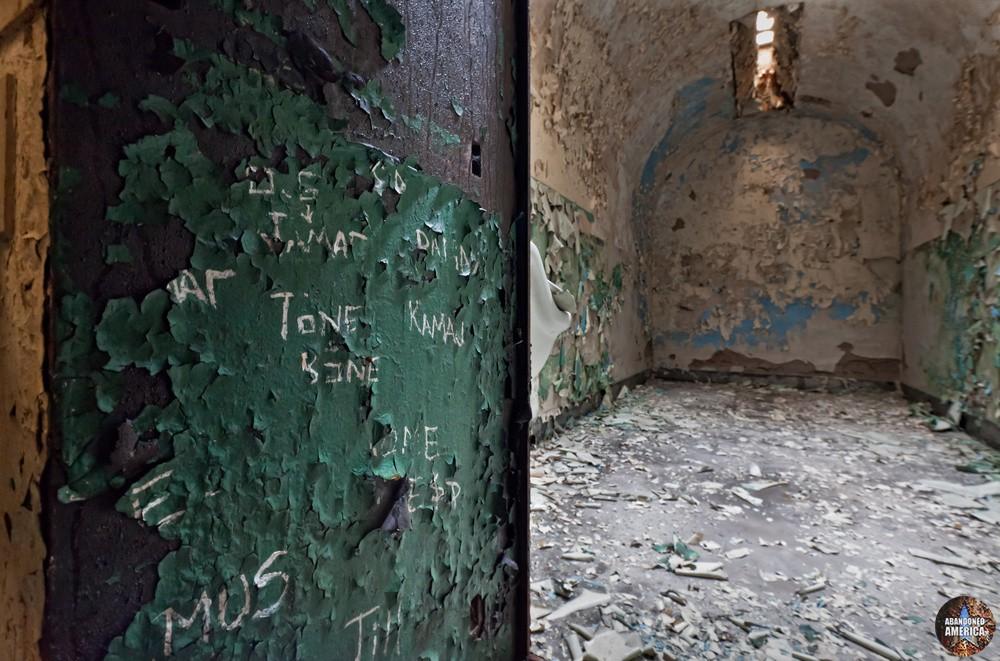 Door writing, Holmesburg Prison, Philadelphia PA | Abandoned America by Matthew Christopher