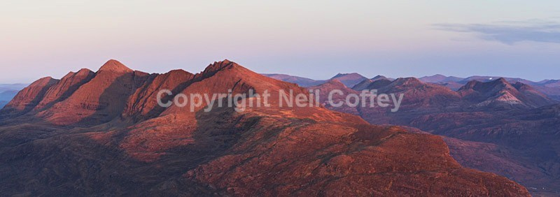 Liathach & Torridon Forest, Highland - Panoramic format