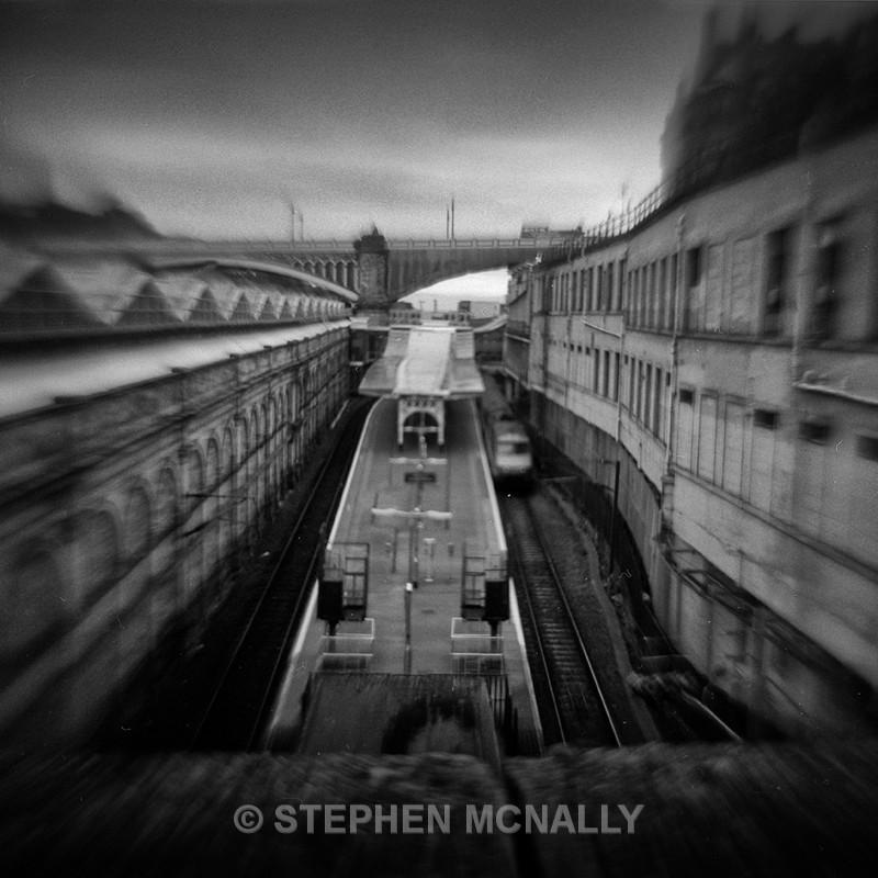 Edinburgh Station - Flipped Lens