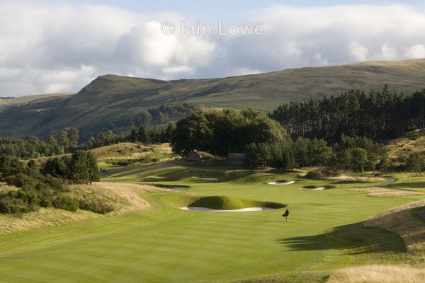 Gleneagles PGA 2nd approach - Gleneagles PGA Course - 2014 Ryder Cup host course
