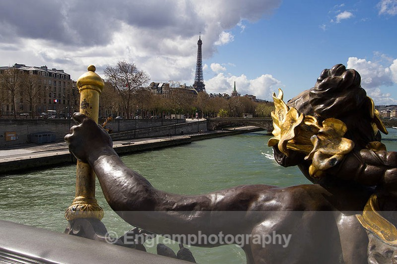Eiffel Tower seen from The Pont Alexandre III bridge-8431 - Cityscapes