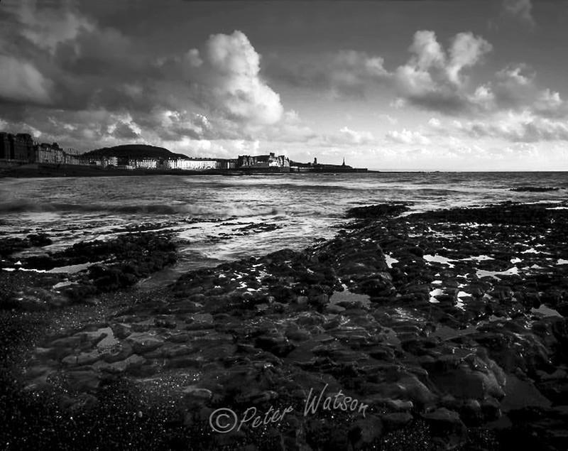 Aberystwyth Wales - Monochrome