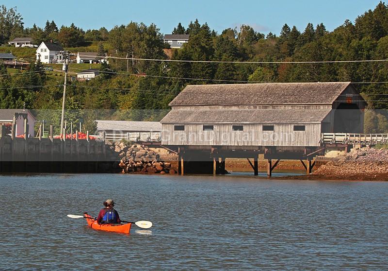 Irish River #1 covered bridge New Brunswick Canada Kayak - Covered Bridges of New Brunswick