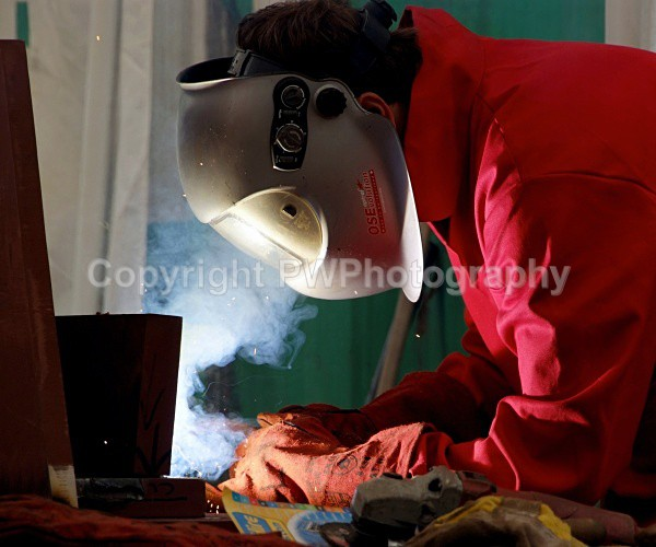 Maylands Sculpture - Welding the structure - Events
