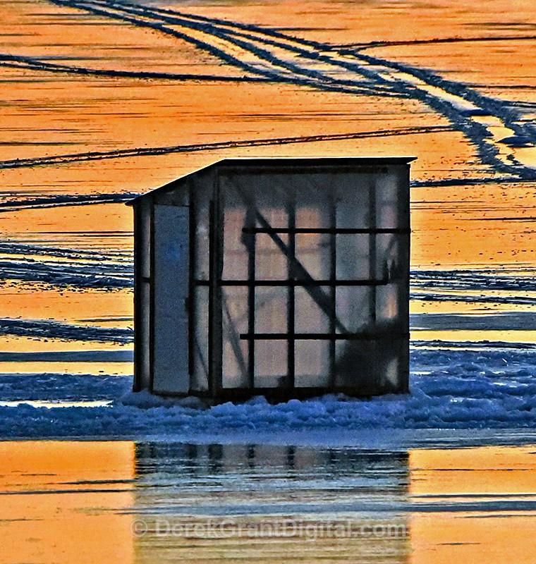 Ice Shack Ice Fishing Canada Smelt Huts Architecture - Ice Shacks