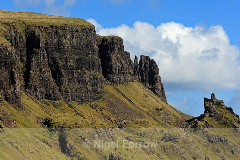 Close-up view of the Quiraing, the Needle and the Prison - Scotland