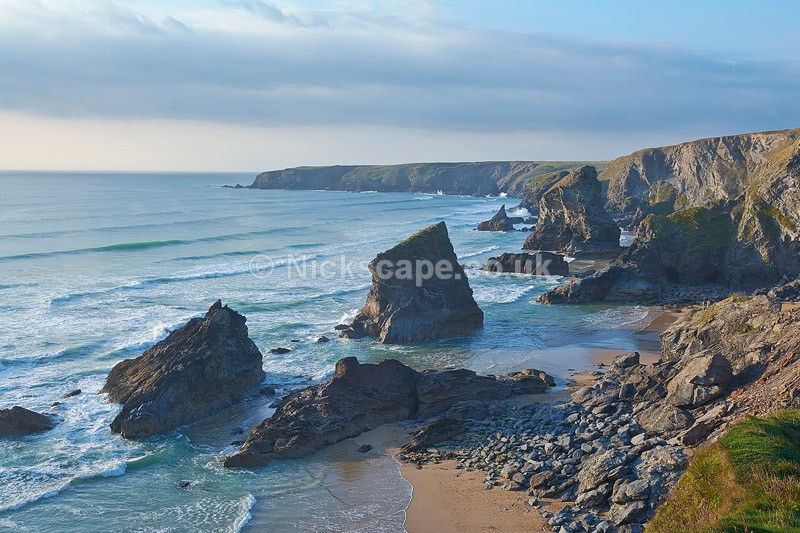 Bedruthan Steps Landscape - Cornwall UK - Cornwall