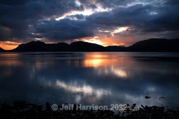 Sunset over Loch Linnhe (image Loch L 01) - Waterscapes and Waterfalls