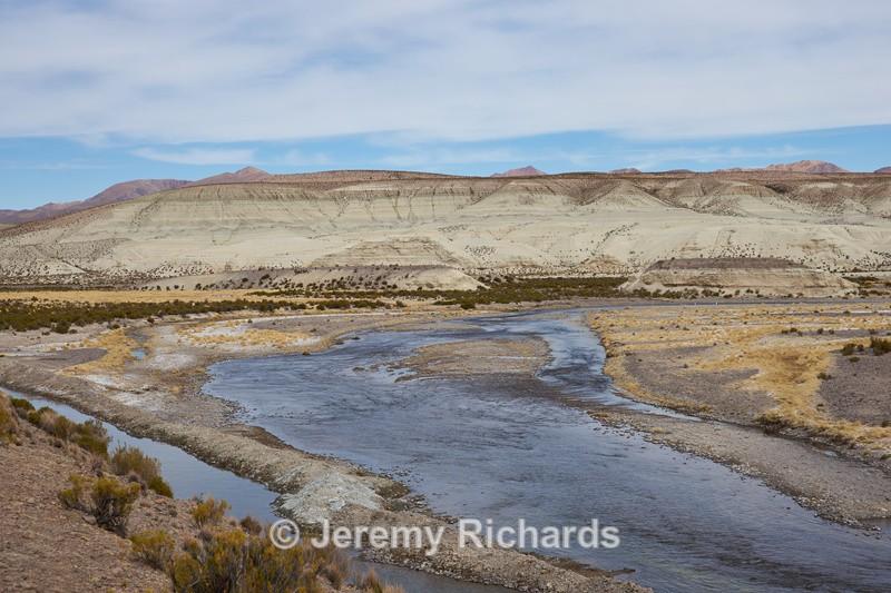 River Lauca - Altiplano of North-East Chile