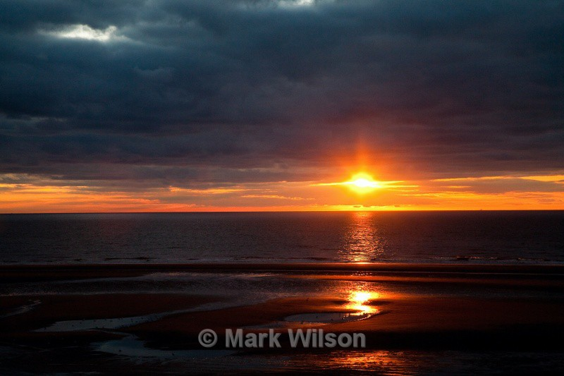 blackpool sunset - north shore - Land and seascapes