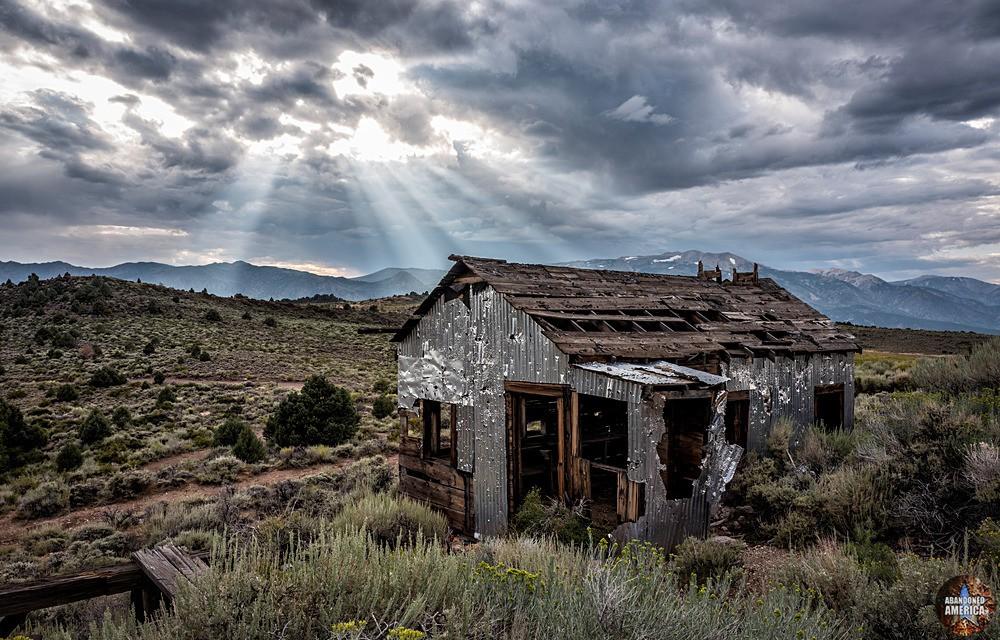 Chemung Mine (Masonic, CA) | Bullet Riddled Shed - Chemung Mine