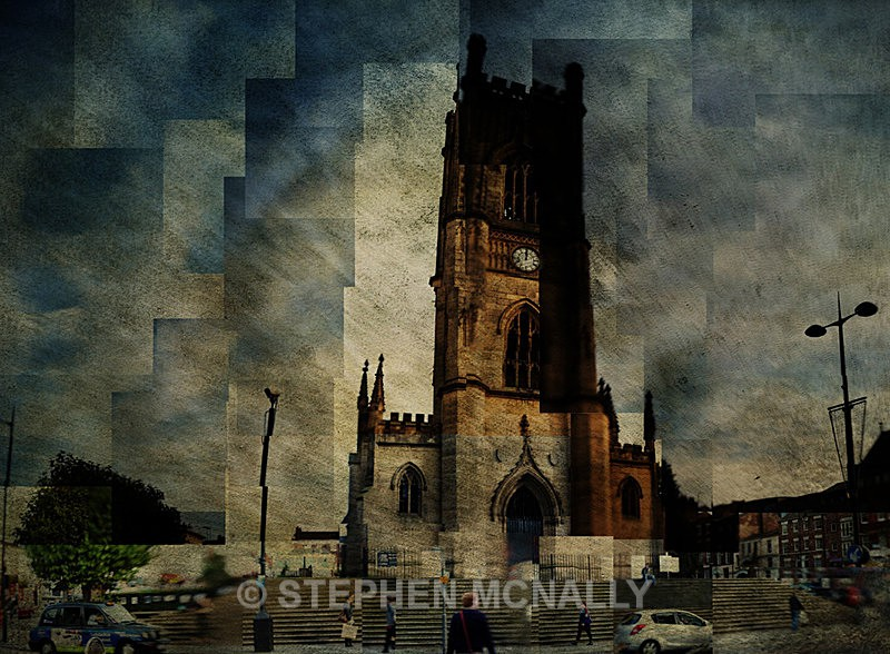 Bombed Out Church - Photographic Cubism