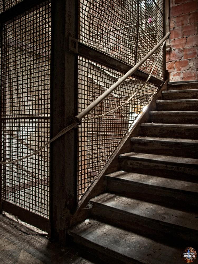 Ellis Island Immigrant Hospital | Caged Stairs - Ellis Island Immigrant Hospital
