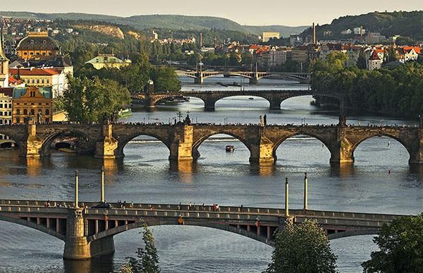 Four bridges - Prague