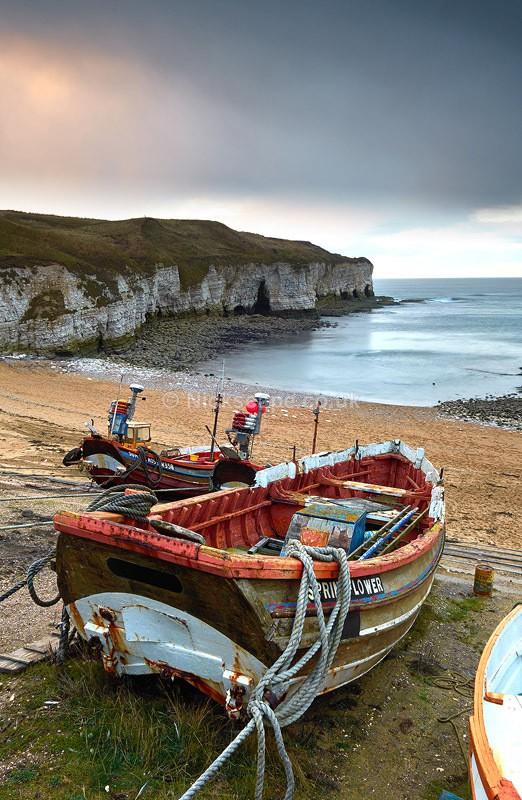 North Landing Fishing Boats - Flamborough Head - Yorkshire, UK - Yorkshire