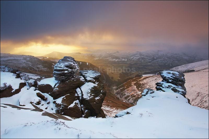 Nether Tor Sunrise - Peak District Winter