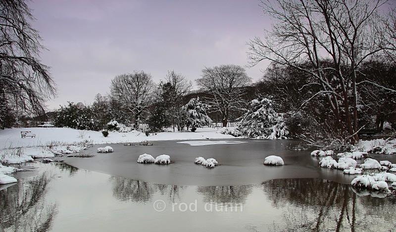 Whitworth Park pond - Peak District