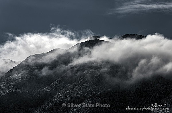 Clouds playing on the Mountain - Nevada (mostly) Landscapes