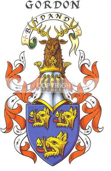 Gordon Family - Heritage Family Name and Coat of Arms Store