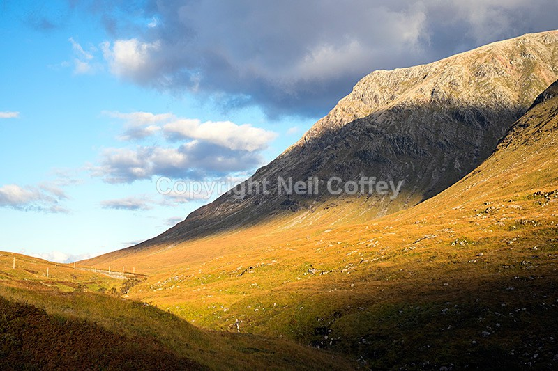 Sron na Creise from Glen Etive, Highland - Landscape format