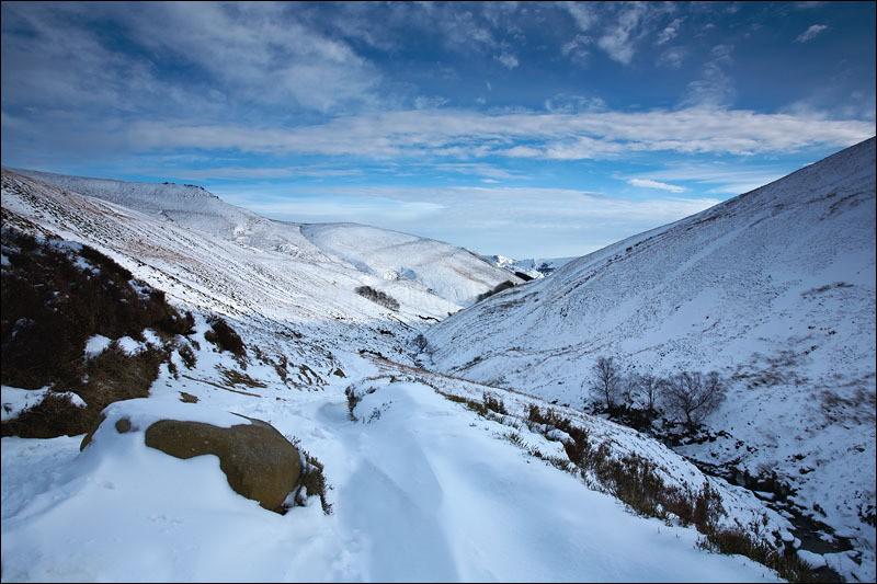 Grindsbrook Snow - Peak District Winter