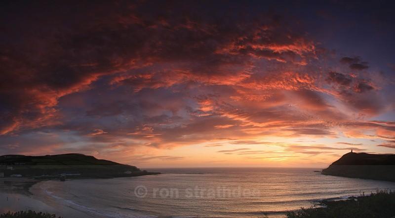 Port Erin sunset - Panorama of Man