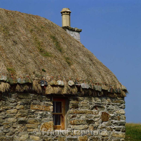 Croft house gable detail. - New images of Scotland