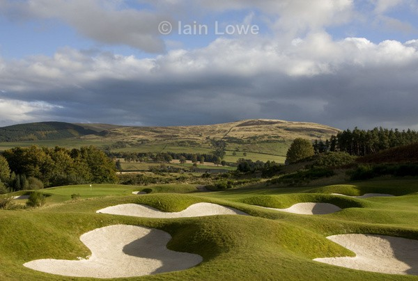 Gleneagles PGA 8th bunkers and green - Gleneagles PGA Course - 2014 Ryder Cup host course