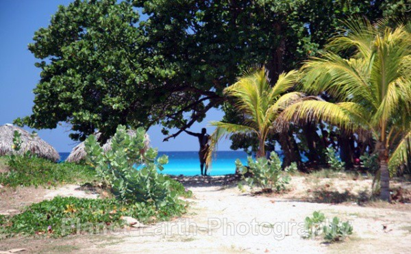 Shady Spot On The Beach - Cuba