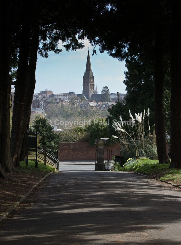 Saint Michael and All Angels Church from Exwick Cemetery, Exeter - Seeing the Wood AND the Trees