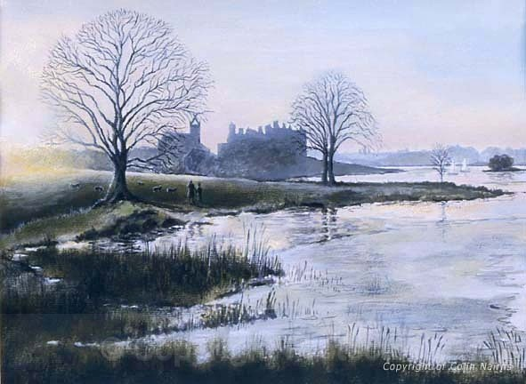 'Linlithgow Loch in winter' - Landscapes