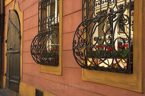 Beer house windows - Prague